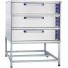Печь для хлеба электрическая подовая, 3 камеры 1000х800х180мм, электромех.упр., под сталь, лицо нерж.сталь, стенд открытый