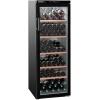 Шкаф холодильный для вина бытовой, 200бут., 1 дверь стекло, 5 полок, ножки, +5/+18С, чёрный, 6 температурных зон