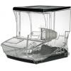 Контейнер для сыпучих продуктов, 20.0л, пластик прозрачный, поддон, совок, ценникодержатель, разделитель