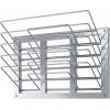 Полка настенная для разделочных досок,  600х236х446мм, 5 уровней решетчатых, открытая, нерж.сталь 430, 5 гориз.секций (на 5 досок)