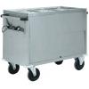 Мармит электрический, 1 ванна 2GN1/1, стенд закрытый, нерж.сталь, передвижной, нагрев «парового» типа
