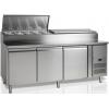 Стол холодильный для сэндвичей, EN, L2.02м, без борта, 3 двери глухие, ножки, +2/+10С, нерж.сталь. дин.охл., агрегат справа, возвыш.11GN1/3, R290a