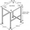Подставка стыковочная под печь конвекционную VMC-H*/Н, 674х794х955мм, без борта, открытая, нерж.сталь, ос.огр., ниша для VMC-H3/Н