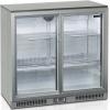 Стол холодильный для напитков, 191л, 2 двери-купе стекло, 4 полки 395х330мм, ножки, +2/+10С, нерж.сталь, дин.охл., подсветка, R600a