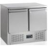Стол холодильный, GN1/1, L0.90м, без борта, 2 двери глухие, ножки, +2/+10С, нерж.сталь, стат.охл.+вент., агрегат нижний, R600a