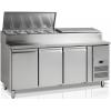 Стол холодильный для сэндвичей, GN1/1, L1.79м, без борта, 3 двери глухие, ножки, +2/+10С, нерж.сталь, дин.охл., агрегат справа, возвыш. 9GN1/3, R290a