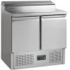 Стол холодильный для сэндвичей, GN1/1, L0.90м, без борта, 2 двери глухие, ножки, +2/+10С, нерж.сталь, стат.охл.+вент., агрегат нижний, возвыш.5GN1/6,