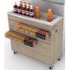 Модуль барный холодильный для импульсных продаж, 1260х350х900мм, без борта, ванна охлаждаемая, колеса, агрегат, фронт.панель ЛДСП