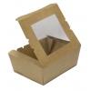 Коробка универсальная с окном 1200мл бумага крафт двухсторонний биоразлагаемая