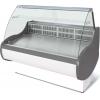 Витрина холодильная напольная, горизонтальная, L1.18м, 0/+7С, стат.охл., без щитков, стекло фронтальное гнутое