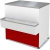 Прилавок кассовый универсальный, L0.93м, красный, полка для сумок, для серии Таир