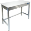 Стол производственный разделочный, 1000х600х850мм, без борта, открытый, обвязка с 3-х сторон, нерж.сталь 304, разборный, столешница полипропилен