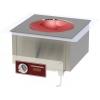Плита индукционная WOK, 1 конфорка 1х3.5кВт круглая стеклокерамическая, встраиваемая