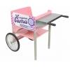 Тележка для аппарата сахарной ваты, 2 колеса, доп. полка, розовая