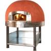 Печь дровяная, 1 камера, под 1.10м2 камень сплошной, термометр аналоговый, купол круглый красный, дверь сталь, подставка, ящик для золы
