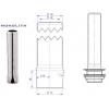 Трубка переливная для ванны моечной, h150мм
