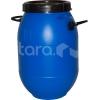Бочка 50л D 38см h 58 см с крышкой и ручками, без металического ободка, пластик синий
