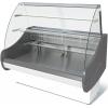Витрина холодильная напольная, горизонтальная, L1.48м, 3 полки, 0/+7С, стат.охл., без щитков, стекло фронтальное гнутое