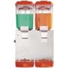 Сокоохладитель, 2 ванны по 16л, нерж.сталь, крышка и накопитель оранжевого цвета