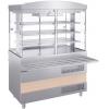 Прилавок-витрина холодильный, L1.20м, столешница охлаждаемая +2/+10С, стенд закрытый, нерж.сталь, направляющая