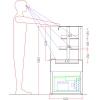 Витрина холодильная напольная, для самообслуживания, горизонтальная, кондитерская, L0.74м, 2 полки, +1/+4С, дин.охл., без отделки, без бок.стекла