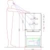 Витрина холодильная напольная, горизонтальная, кондитерская, L1.07м, 2 полки, +4/+8С, дин.охл., прямое фронтальное стекло, без отделки и бок.стекла