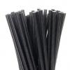 Трубочки для напитков бумажные D 6мм L 197мм чёрные