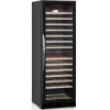 Шкаф холодильный для вина, 155бут. (370л), 1 дверь стекло, 14 полок, ножки, +5/+10 и +10/+18С, стат.охл.+вент., черный, 2 темп.зоны