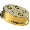 Матрица латунно-бронзовая для аппарата для макаронных изделий MPF 1,5N, bucatini (спагетти толстые с отверстием), 4мм