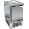 Стол холодильный саладетта, GN1/1, L0.57м, без борта, 1 дверь глухая, ножки, +2/+10С, нерж.сталь, дин.охл., агрегат нижний, гнездо GN1/1, без крышки