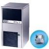 Льдогенератор для кускового льда,  28кг/сут, бункер 9.0кг, вод.охлаждение, корпус нерж.сталь, форма «кубик» A