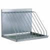Полка настенная для разделочных досок,  600х350х300мм, 1 уровень сплошной, открытая, нерж.сталь, 9 верт.секций (на  9 досок)