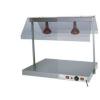 Подогреватель электрический ламповый,  850х640х800мм, 2 лампы инфракрасные, настольный, нерж.сталь, крышка поликарбонат