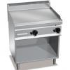 Гриль-сковорода газовая, 2 зоны, поверхность гладкая стальная, стенд полузакрытый без двери, магистральный газ