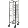 Шпилька для GN1/1 (EN), 11 уровней, одинарная, открытая, нерж.сталь 304, колеса, гнутая, направляющие по длинной стороне универсальные