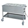 Мармит электрический, 1 ванна 3GN1/1, стенд открытый, 1 полка сплошная, нерж.сталь, передвижной, нагрев «сухого» типа