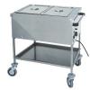 Мармит электрический, 1 ванна 2GN1/1, стенд открытый, 1 полка сплошная, нерж.сталь, передвижной, нагрев «парового» типа