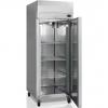 Шкаф морозильный, GN2/1,  650л, 1 дверь глухая, 3 полки, колеса, -18/-24С, дин.охл., нерж.сталь