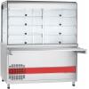 Прилавок-витрина холод., охл.стол., подсв., направ., н/сталь, L1.5м