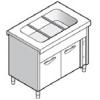 Прилавок раздаточный для вторых блюд, L1.13м, 3GN1/1, стенд закрытый, двери распашные, нерж.сталь, паровой