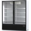 Шкаф комбинированный, 1600л, 2 двери стекло, 8 полок, ножки, +1/+10 и -6/+6С, дин.охл., белый, агрегат нижний