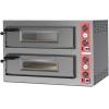Печь для пиццы электрическая, подовая, 2 камеры 1050х700х150мм, 12 пицц D330мм, электромех.управление, двери стекло, под камень