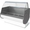 Витрина морозильная напольная, горизонтальная, L1.48м, -13С, стат.охл., без щитков, стекло фронтальное гнутое