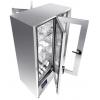 Машина-шкаф посудомоечная, туннельная, 4 двери, 4 уровня, гор.вода, 9 программ