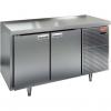Стол холодильный сквозной, GN1/1, L1.39м, б/борта, 4 двери глухие, ножки, -2/+10С, нерж.сталь, дин.охл., агрегат справа