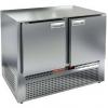 Стол морозильный, GN1/1, L1.00м, б/столешницы, 2 двери глухие, ножки, -10/-18С, нерж.сталь, дин.охл., агрегат нижний