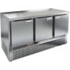 Стол холодильный, GN1/1, L1.49м, без борта, 3 двери глухие, ножки, -2/+10С, нерж.сталь, дин.охл., агрегат нижний
