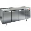 Стол холодильный сквозной, GN1/1, L1.84м, б/борта, 6 дверей глухих, ножки, -2/+10С, нерж.сталь, дин.охл., агрегат справа