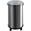 Бак для пищевых отходов передвижной,  390х390х600мм, 63л, нерж.сталь, крышка