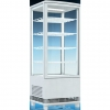 Витрина холодильная настольная, вертикальная, L0.43м, 4 полки, 0/+12С, белая, 4-х стороннее остекление